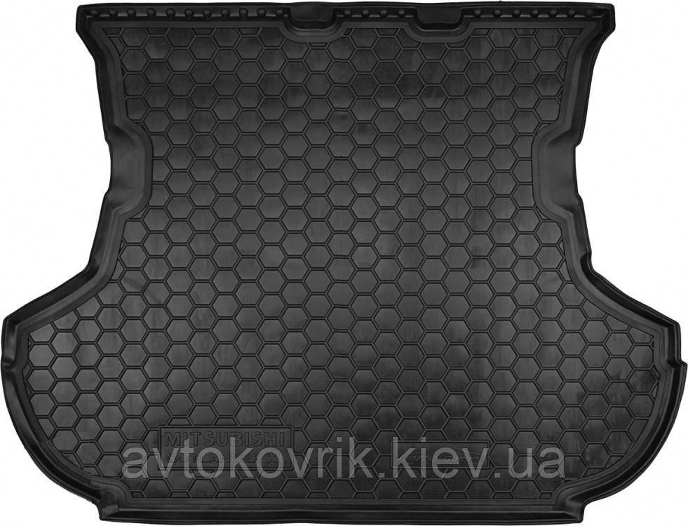 Полиуретановый коврик в багажник Mitsubishi Outlander II (XL) 2007-2012 (без сабвуфера) (AVTO-GUMM)