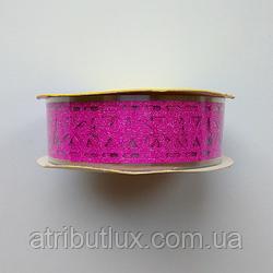 Скотч декоративный 1,8*1м 3D Темно-розовый