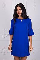 Молодежное платье синего цвета 110-2
