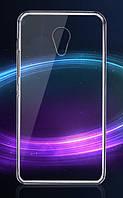 Обложка - чехол силиконовая для телефона Meizu M3/M3S прозрачный