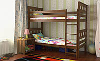 Кровать Жасмин Вариант 2 (карточки) без матраса с каркасом, орех лесной