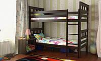 Кровать Жасмин Вариант 2 (карточки) без матраса с каркасом, орех темный