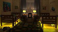 Кровать Жасмин Вариант 2 (карточки) без матраса с каркасом, с подсветкой желтой