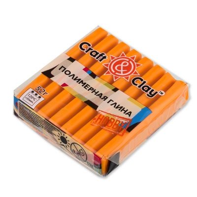 Полимерная глина Craft&Clay Крафт энд Клей 52 г, цвет оранж 1007