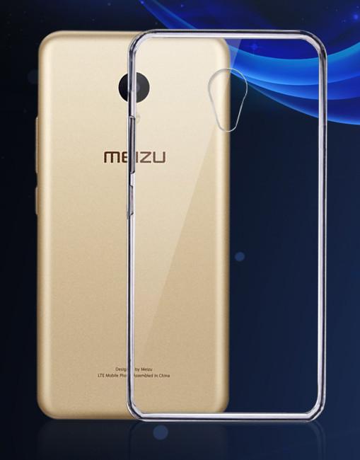 Обложка - чехол силиконовая для Meizu M5s прозрачная