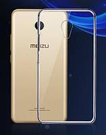 Обложка - чехол силиконовая для Meizu M5s прозрачная, фото 1