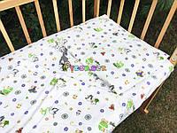 Постельный набор в детскую кроватку Байка (3 предмета) Аист с малышом, фото 1