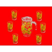 Набор для сока стекло 7предм. (кувшин 1,77л и 6 стаканов 190мл) 904