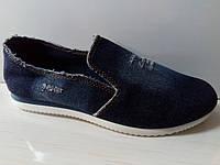 Мокасины джинсовые р. 39(большемерят на 1 размер)
