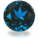Сапфир синий круг, 1,25 мм