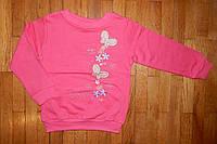 Детская кофта для девочки Бабочки розовая 5-8 лет