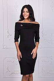 Короткое черное платье 112-1