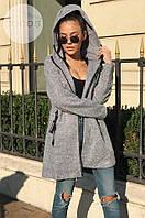 Модное женское пальто с капюшоном / Украина / букле