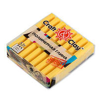 РАСПРОДАЖА ОСТАТКОВ КОЛЛЕКЦИИ Полимерная глина Craft&Clay Крафт энд Клей 52 г,цвет Лимонный 1008