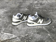 Мужские кроссовки New Balance ML574-CN Grey/White, Нью беланс 574, фото 2