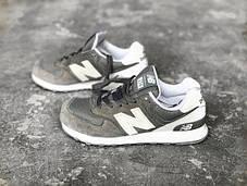 Мужские кроссовки New Balance ML574-CN Grey/White, Нью беланс 574, фото 3
