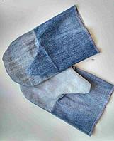 Рукавицы рабочие / рукавицы джиновые с двойным наладонником