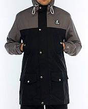 Парка Ястребь, мужская куртка(серо- черный) весна\осень, фото 3