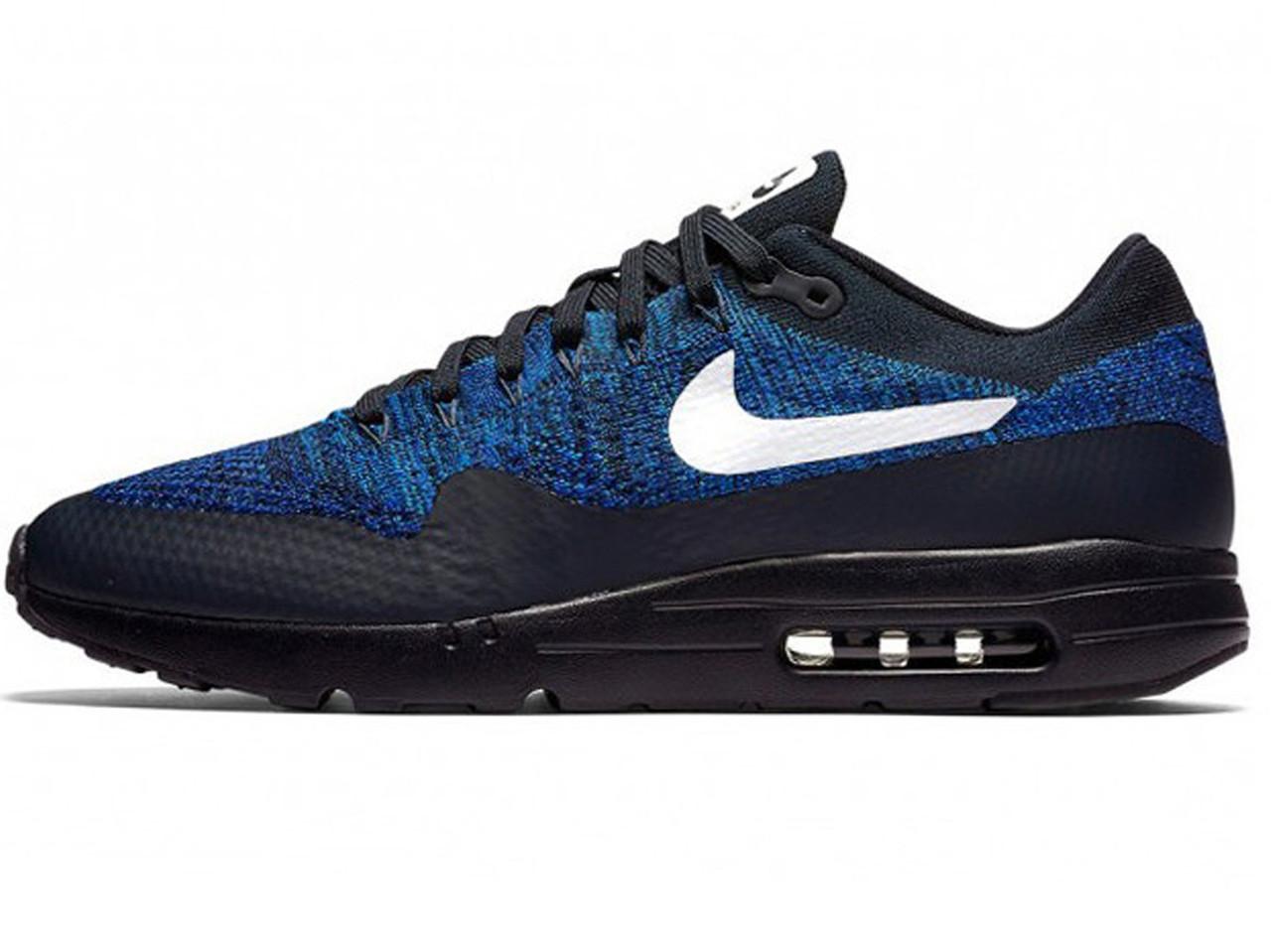 723ad08b70d0 Мужские кроссовки Nike Air Max 87 ultra flyknit black blue (Реплика ААА+)