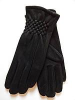 Женские перчатки иск.замш/флис оптом от 10 пар