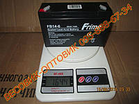 Аккумуляторная батарея Frime 6V 14.0AH (FB14-6) AGM размер 151×50×94мм, фото 1