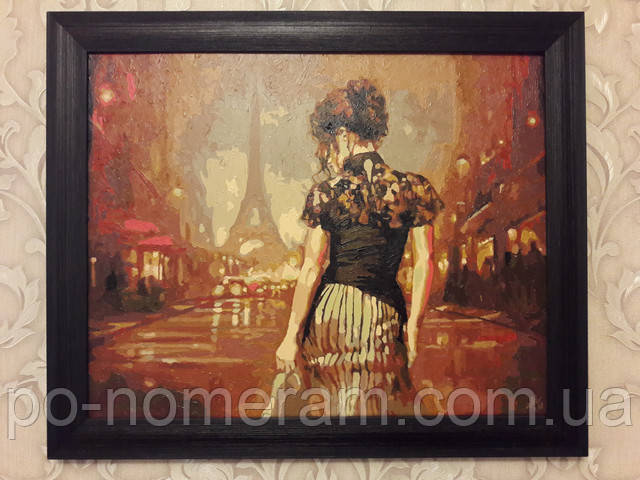 Нарисованная картина Винтажный Париж