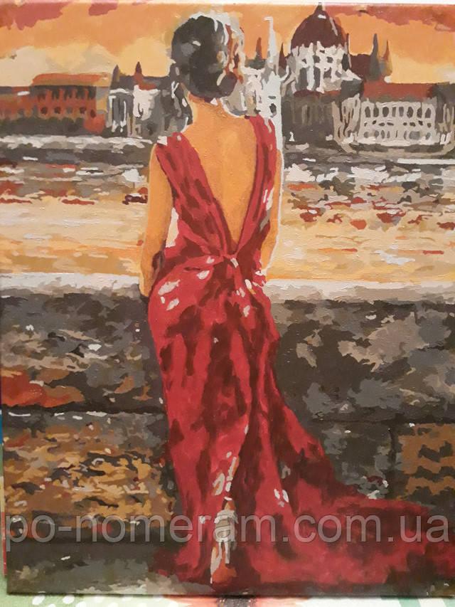 Завершенная картина Итальянка в красном