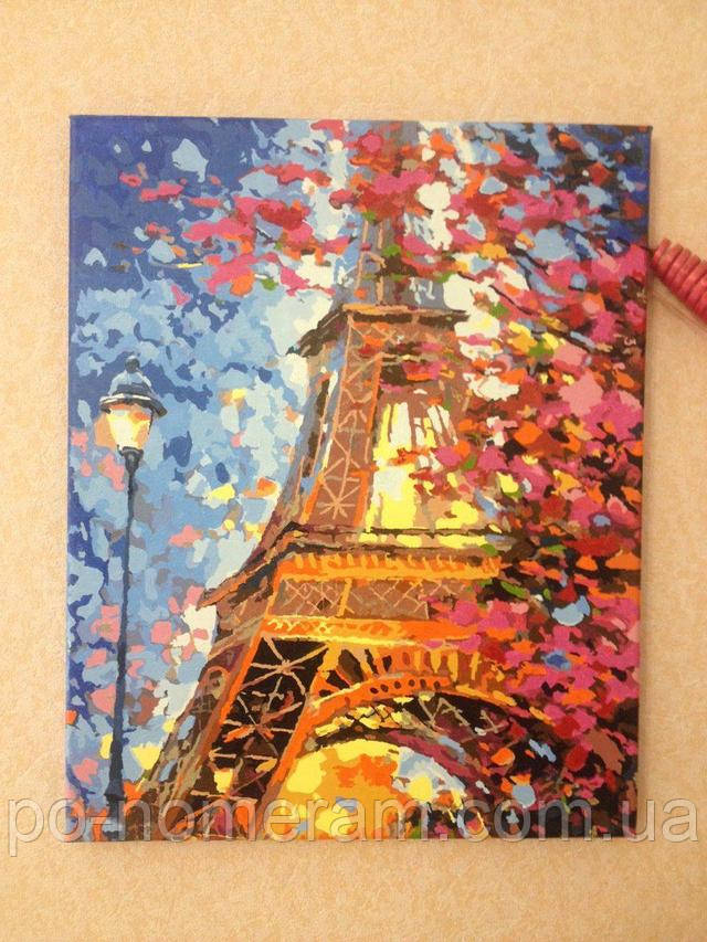 Готовая раскраска по номерам Краски весеннего Парижа