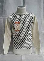 Шерстяной нарядный свитер для девочек 116,128,140,152,164 роста Воротник стойка