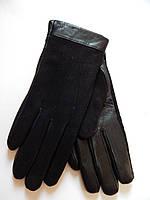 Женские перчатки кожа/замш на махре оптом
