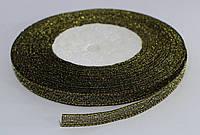 Лента люрекс(парча). Цвет - золото темное. Ширина - 0,7 см, длина 23 м