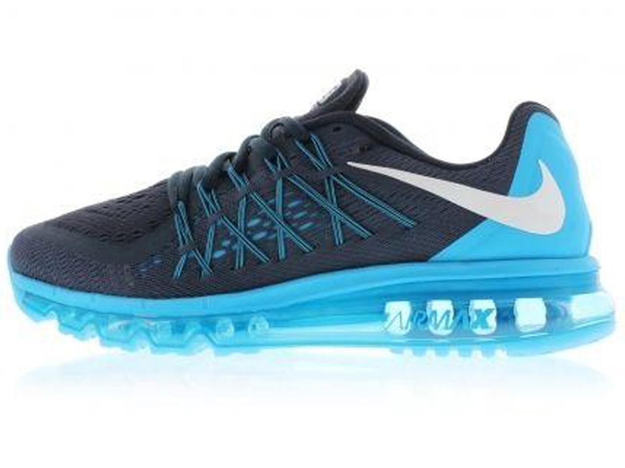 e996eb21ddc6 Мужские Кроссовки Nike Air Max 2015 Blue Black (Реплика ААА+) — в ...