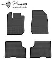Dacia Logan  2013- Комплект из 4-х ковриков Черный в салон