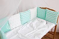 """Бортики в детскую кроватку """"Minty fresh"""", фото 1"""
