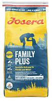 Josera (ЙОЗЕРА) FAMILY PLUS 15кг - корм для щенков, беременных и кормящих сук (лосось/курица/рис)
