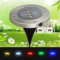 Газонный светильник на солнечной батарее с датчиком освещенности 3 LED зеленый
