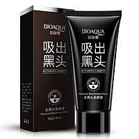 Угольная маска для удаления черных точек BIOAQUA