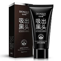 Угольная маска для удаления черных точек BIOAQUA, фото 1