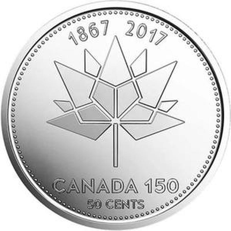 Канада 50 центів 2017 рік, 150 років Канади