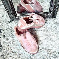 Бархатные розовые кеды с опушкой код 353