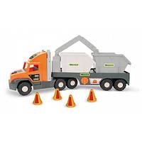 "Wader ""Super Tech Truck"" с строительными контейнерами (36760)"