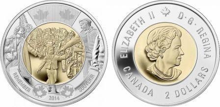 Канада 2 доллара 2014