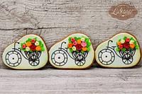 Пряник Велосипед с цветами