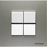 Выключатель 1 кл. универсальный (1 мод.) ABB Zenit Белый N2102 BL, фото 3