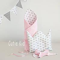 """Конверт и подушка для новорожденной девочки """"Little Princess"""""""