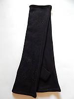 Длинные женские трикотажные перчатки без пальцев оптом 40см