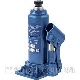 Домкрат гидравлический бутылочный, 4 т, h подъема 194–372 мм Stels
