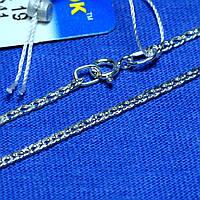 Тонкий серебряный браслет Панцирь 18 см 90206204041, фото 1