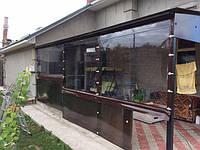 Окна из плёнки пвх. Плёночные окна. Жидкие окна на беседку, террасу, пристройку, веранду.