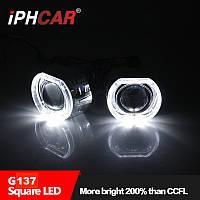 """Маска для ксеноновых линз 3.0"""" : BMW F-Style G137-CREE White со светодиодными Ангельскими Глазами LED CREE"""